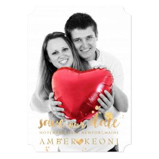 PixDezines Faux Gold Heart/Save Date/DIY Color Card