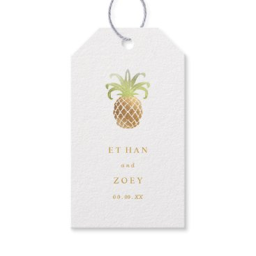 Christmas Themed PixDezines Faux Gold Pineapples/DIY color Gift Tags