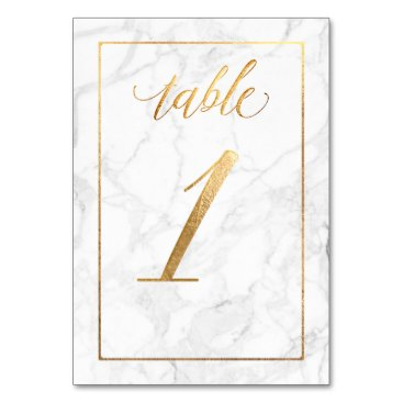 Beach Themed PixDezines Faux Gold/Table No 1 /Marble Card