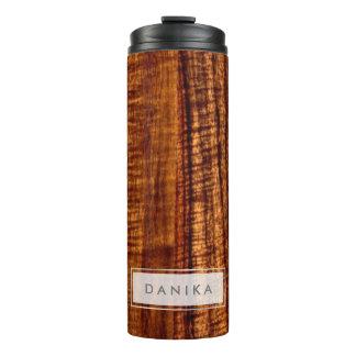 PixDezines Faux Koa Wood Texture Thermal Tumbler