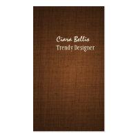 PixDezines faux linen espresso brown Business Card