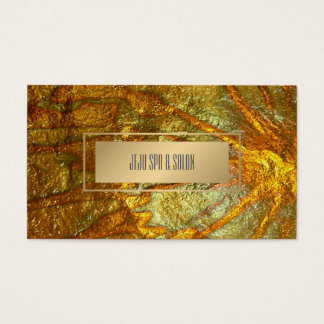 PixDezines Faux Metallic Gold Texture Business Card