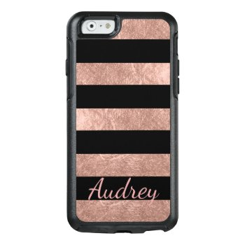Pixdezines Faux Rose Gold Foil/diy Background Otterbox Iphone 6/6s Case by iphone_skins at Zazzle