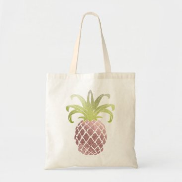 PixDezines PixDezines Faux Rose Gold Pineapple Tote Bag