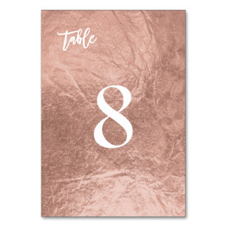 PixDezines Faux Rose Gold/Table No. Card