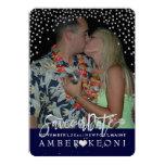 PixDezines Faux Silver Confetti/Heart/Save Date Card
