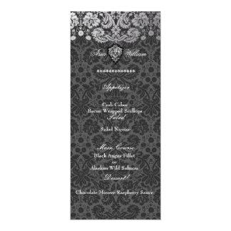 PixDezines faux silver/DIY background/lemon 4x9.25 Paper Invitation Card