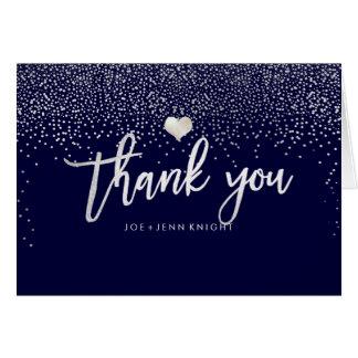PixDezines Faux Silver Speckle/Thank You/DIY color Card