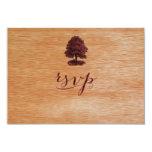 PixDezines faux wood veneer+oak tree Card