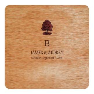 PixDezines faux wood veneer+oak trees Card