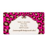 PixDezines Felina, hot pink leopard print Shipping Labels
