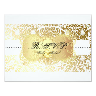 PixDezines Fidora Damask RSVP cards, require 5x7 4.25x5.5 Paper Invitation Card