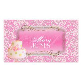 PixDezines Fidora Vintage Damask, Wedding Cake Business Card Templates