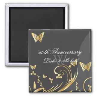 PixDezines filigree swirls+butterflies/diy fonts 2 Inch Square Magnet