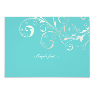 PixDezines filigree swirls/diy background color 5x7 Paper Invitation Card