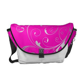 PixDezines Filigree Swirls/DIY color Courier Bag