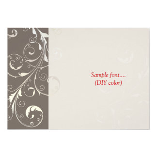 PixDezines filigree swirls/diy colors Custom Invite