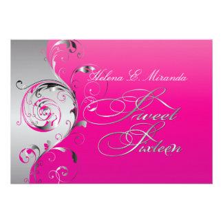 PixDezines Filigree+swirls silver+hot pink Announcements