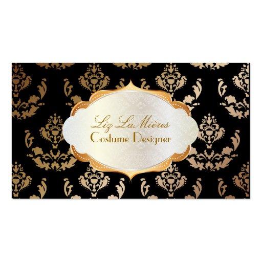 PixDezines firenze damask/copper/diy background Business Card