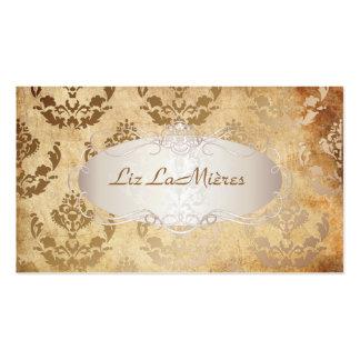 PixDezines firenze damask/faux parchment Business Card