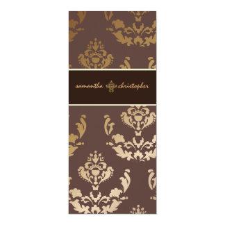 PixDezines Firenze Damask in faux gold + brown Card