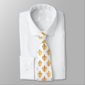 PixDezines fleur de lis/DIY background color Neck Tie