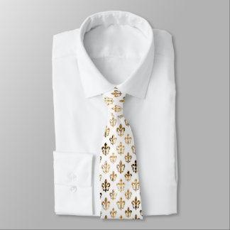 PixDezines fleur de lis/DIY background color Tie