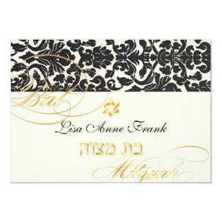 PixDezines Flora Damask, Bat Mitzvah/ DIY color Card