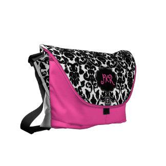 PixDezines Flora Damask/DIY background Messenger Bag