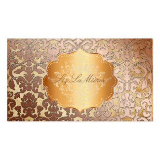 PixDezines flora damask/faux parchment Double-Sided Standard Business Cards (Pack Of 100)