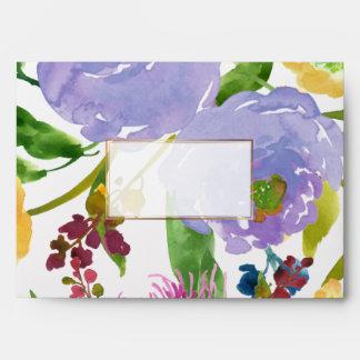PixDezines floral/acuarela/ranúnculo/púrpura Sobres