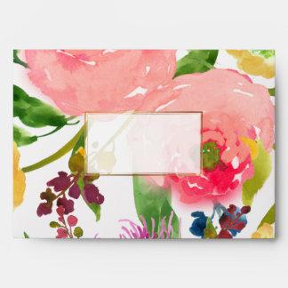 PixDezines floral/acuarela/ranúnculo/rosa Sobre