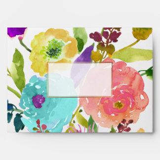 PixDezines floral/acuarela/ranúnculo Sobre