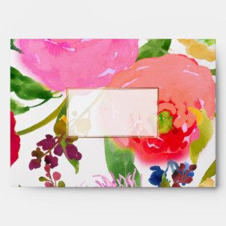 PixDezines floral/acuarela/ranúnculo Sobres