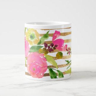 PixDezines floral/acuarela/ranúnculo Taza De Café Gigante