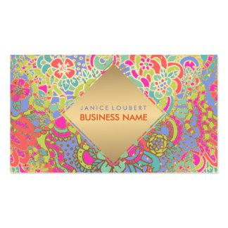 PixDezines Floral Boho Business Card