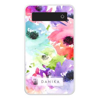 PixDezines Floral/Watercolor/Lily Rose Power Bank
