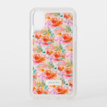 PixDezines Floral Watercolor Orange Garden Roses Speck iPhone XS Case