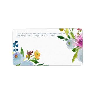 PixDezines floral watercolor/ranunculus/blue Label