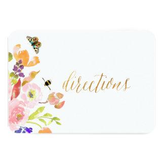 PixDezines Floral Watercolor/Ranunculus/Directions Card