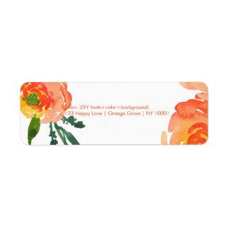 PixDezines floral watercolor/ranunculus/DIY Label