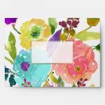 PixDezines Floral/Watercolor/Ranunculus Envelope