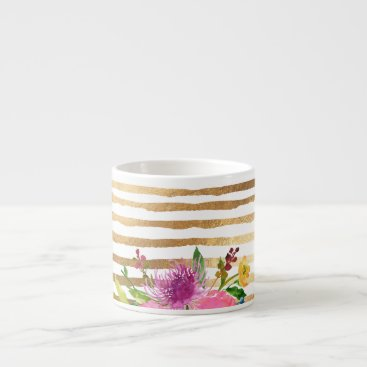Coffee Themed PixDezines floral/watercolor/ranunculus Espresso Cup