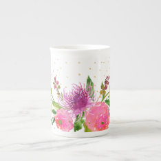 Pixdezines Floral/watercolor/ranunculus Tea Cup at Zazzle
