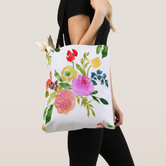 PixDezines Floral/Watercolor/Ranunculus Tote Bag