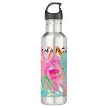 PixDezines Floral/Watercolor/Roses Water Bottle