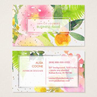 PixDezines Floral Watercolor/Spring Bouquet Business Card