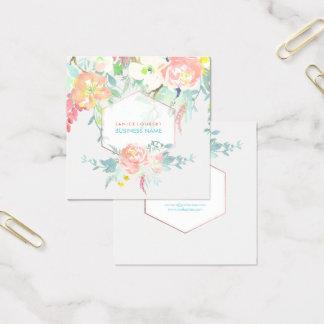PixDezines Floral Watercolor/Spring Bouquet Square Business Card