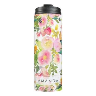 pixdezines PixDezines Floral/Watercolor/Spring Bouquet Thermal Tumbler