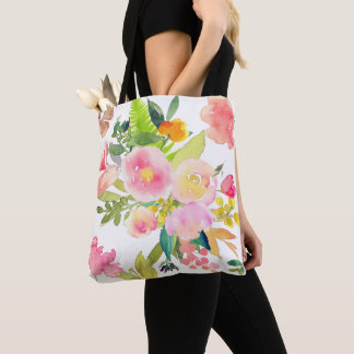 PixDezines Floral/Watercolor/Spring Bouquet Tote Bag